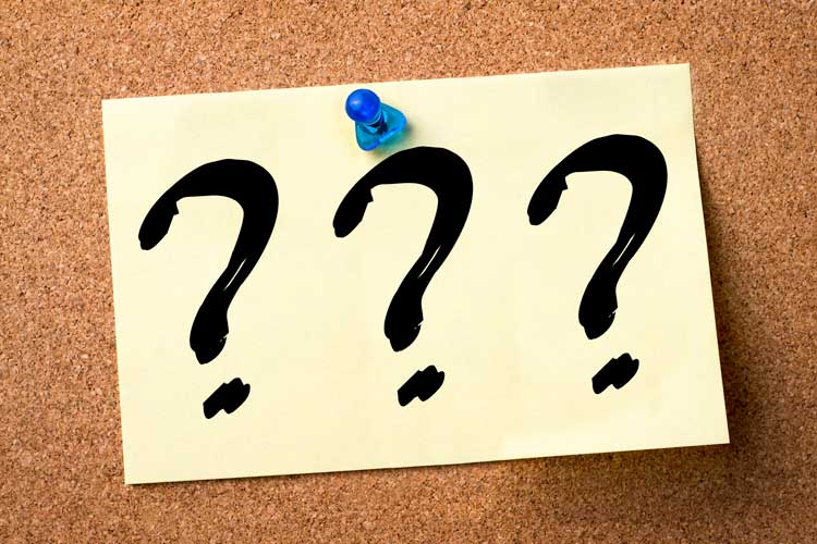 Massage Fort Myers yellow sticky note with question marks